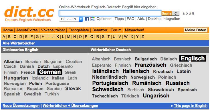 dictcc Wörterbuch & Vokabeltrainer