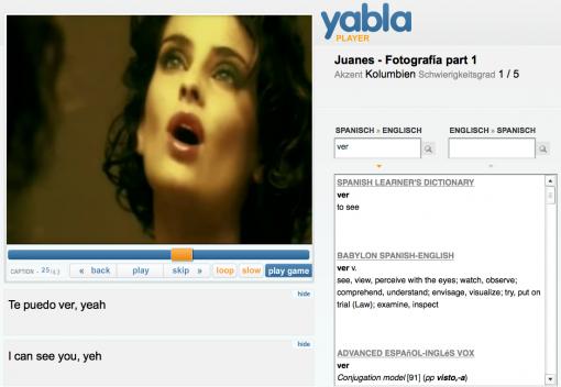 Yabla Videoplayer