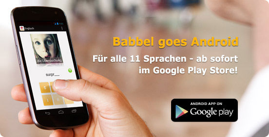 Babbel-App für Android erschienen!