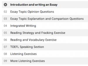 TOEFL Vorbereitung Kursübersicht
