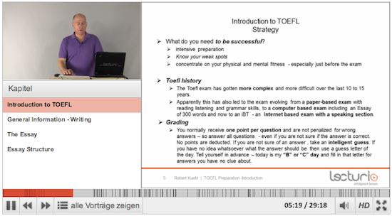 Lecturio - TOEFL Preparation Player